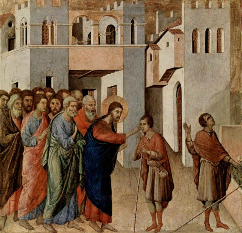 Duccio di Buoninsegna ca. 1255 – 1319 Die Heilung eines Blinden