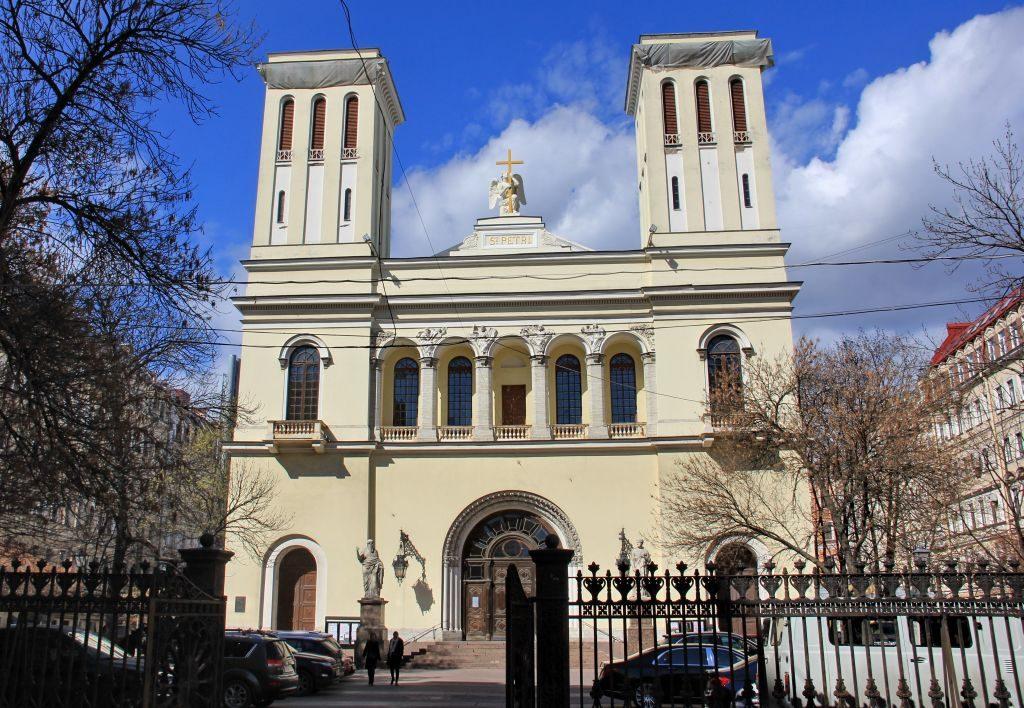 Die Lutherische Petrikirche in Sankt Peterburg.
