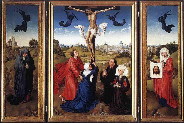 Kreuzigungstriptychon, Rogier van der Weyden, 1445