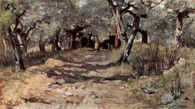 Giovanni Fattori: Feldweg im Olivenhain